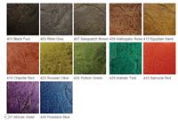 concrete stain colour chart Nano Set Colours